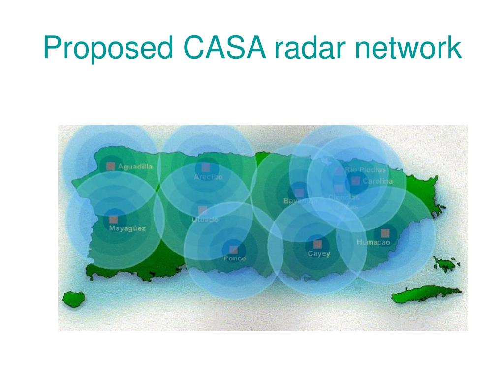 Proposed CASA radar network