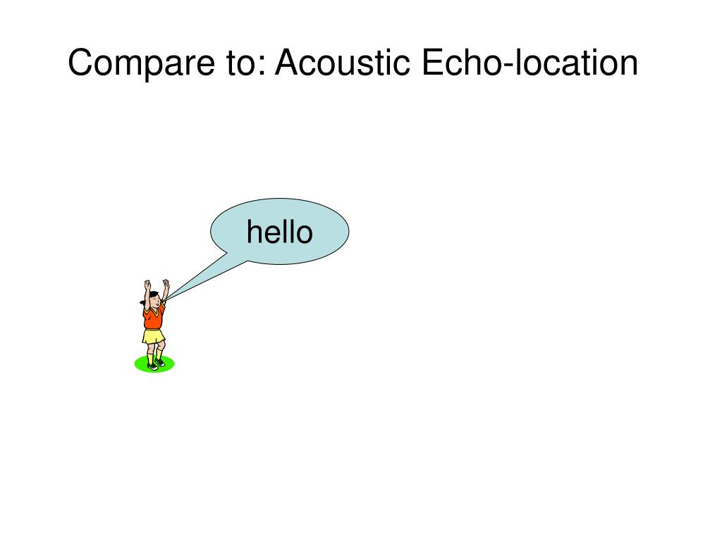 Compare to: Acoustic Echo-location