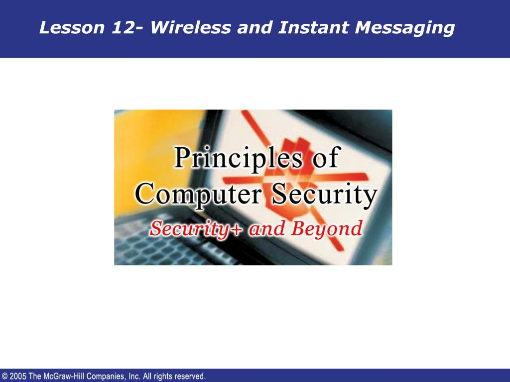 lesson 12 wireless and instant messaging l.