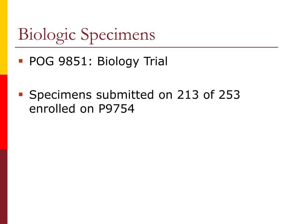 Biologic Specimens