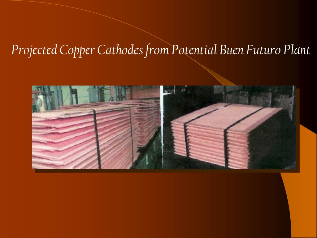 Projected Copper Cathodes from Potential Buen Futuro Plant