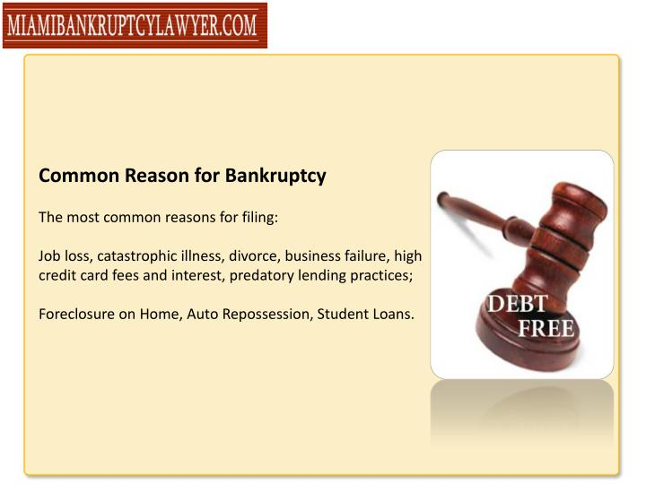 Common Reason for Bankruptcy