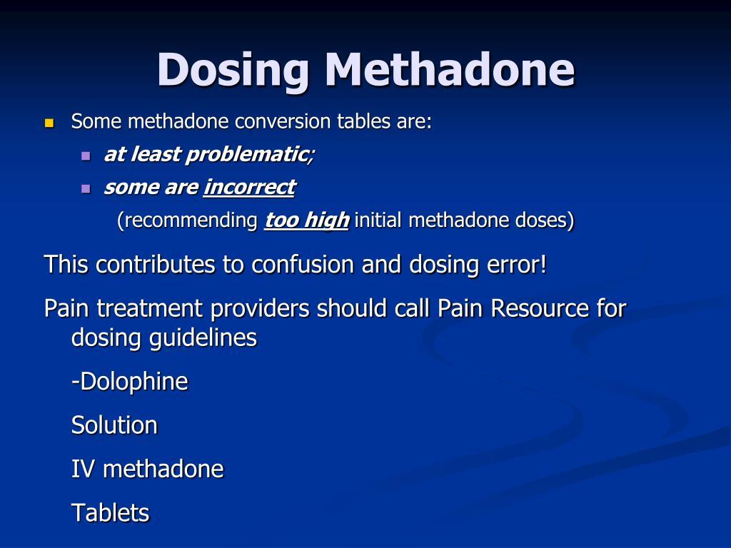 Dosing Methadone