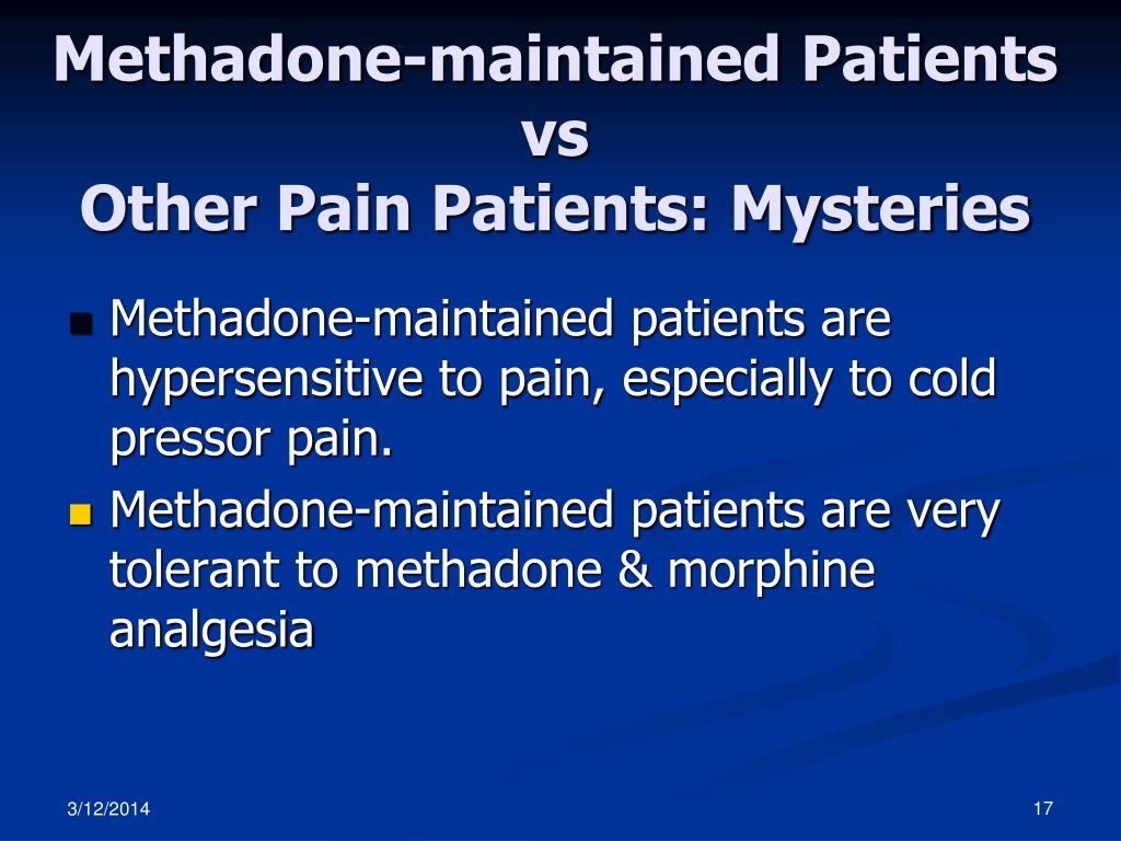 Methadone-maintained Patients vs