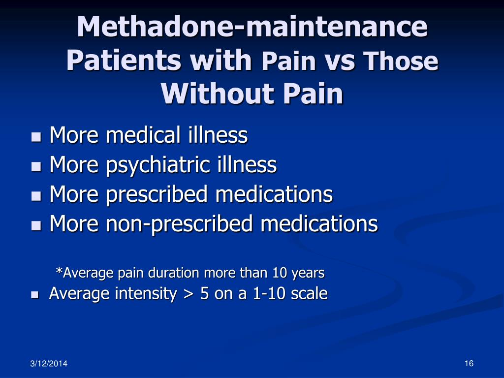 Methadone-maintenance Patients with