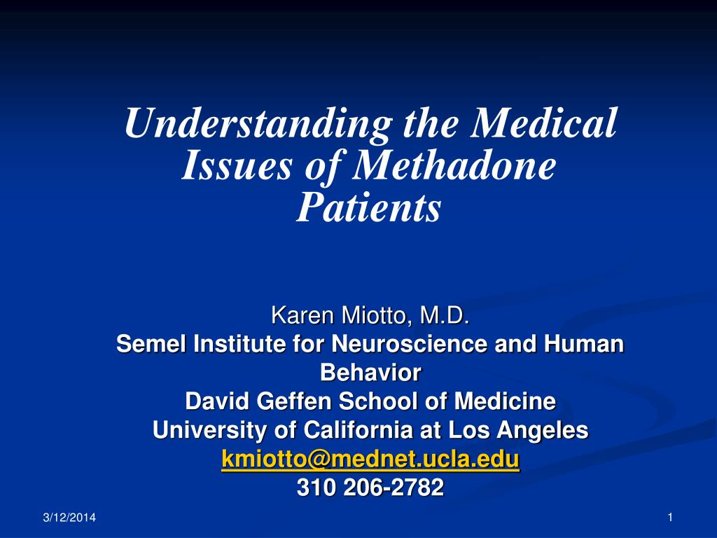 Understanding the Medical Issues of Methadone