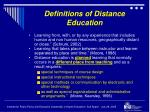 definitions of distance education