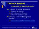 delivery systems presented by dr marsha burmeister