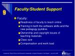 faculty student support