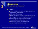 resources what are your present resources