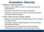 evaluation security