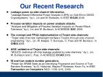 our recent research