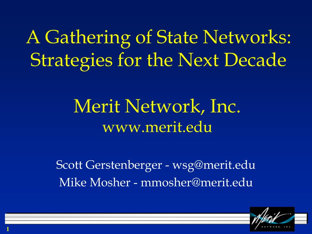 a gathering of state networks strategies for the next decade l.