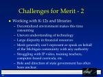 challenges for merit 2