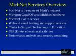 michnet services overview
