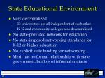 state educational environment