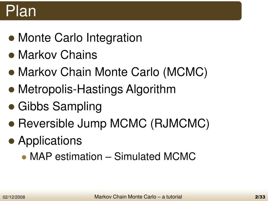 PPT - a tutorial on Markov Chain Monte Carlo (MCMC