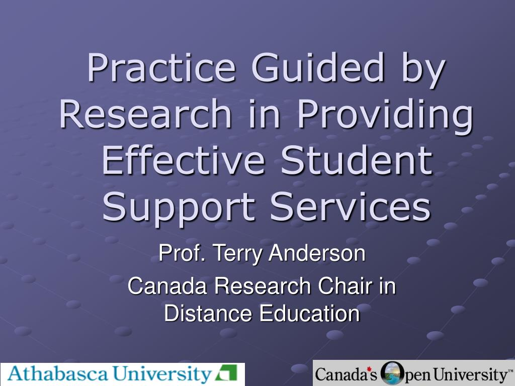 practice guided by research in providing effective student support services l.