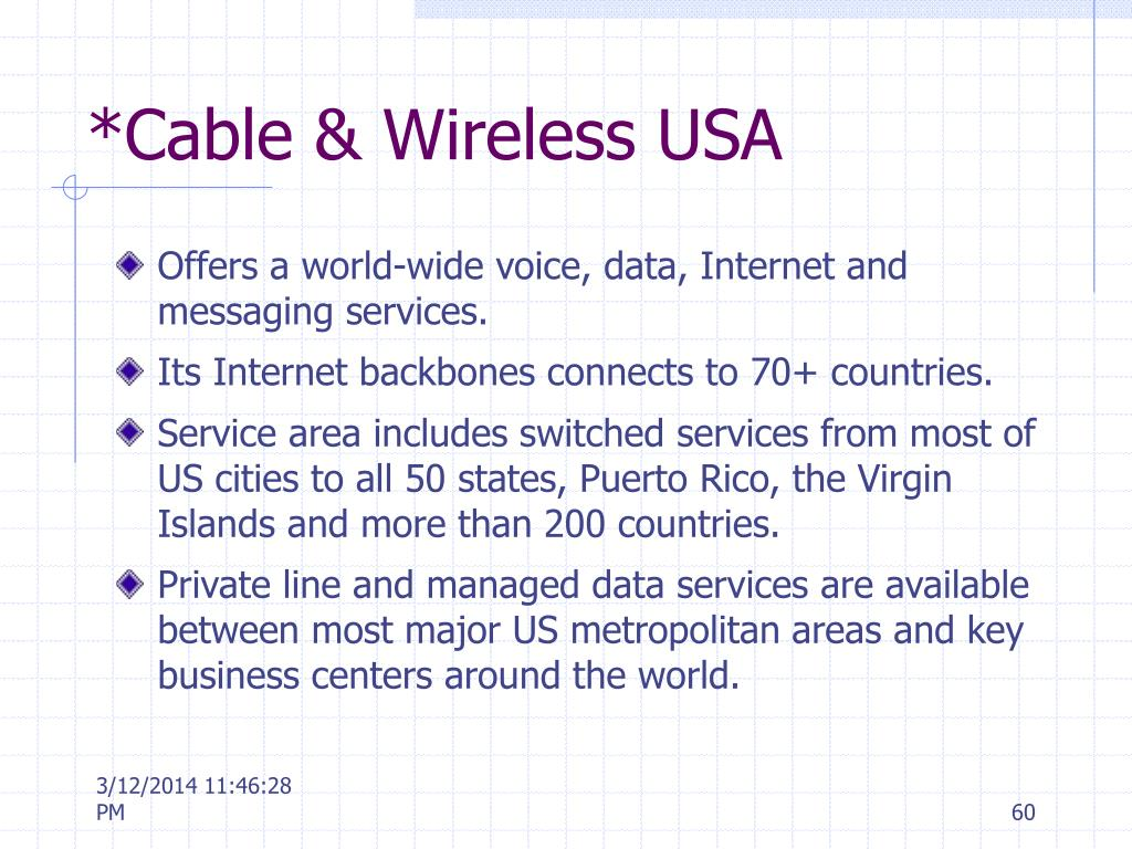 *Cable & Wireless USA