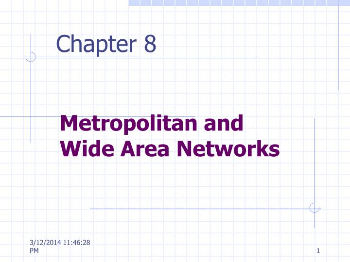 Metropolitan and wide area networks