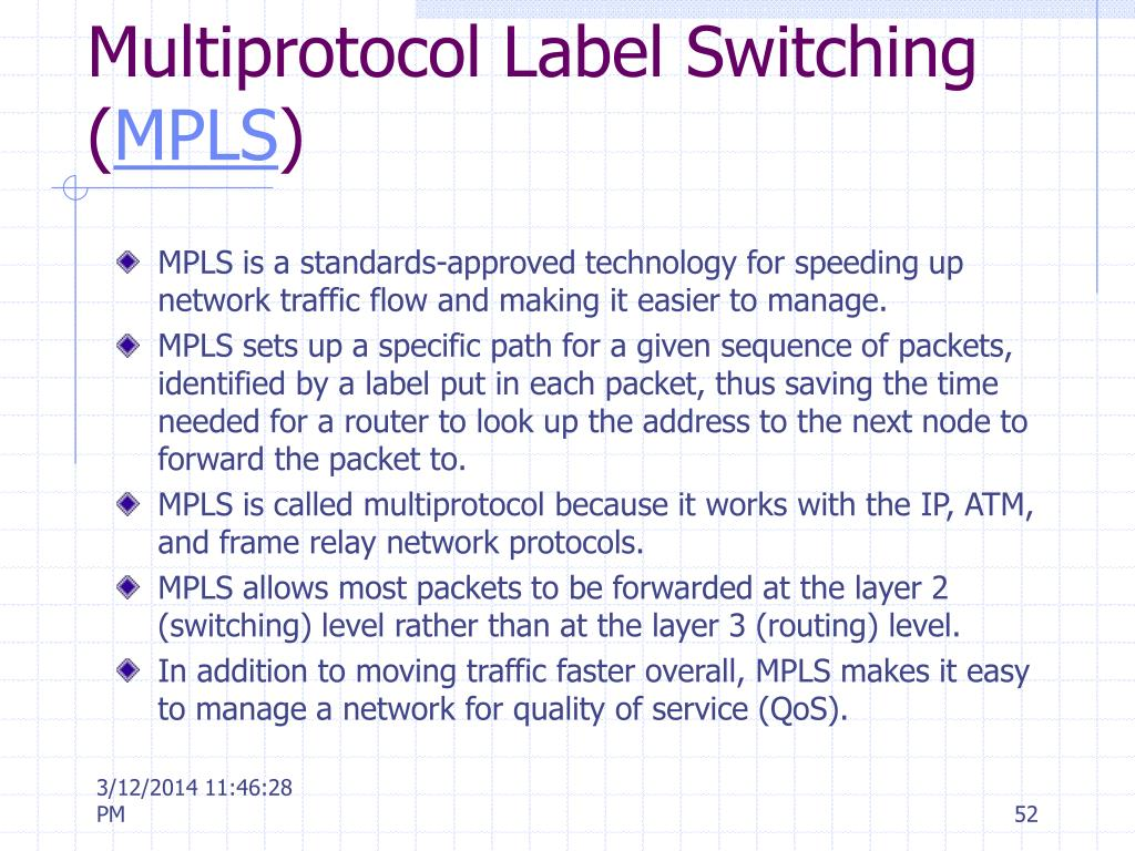 Multiprotocol Label Switching (