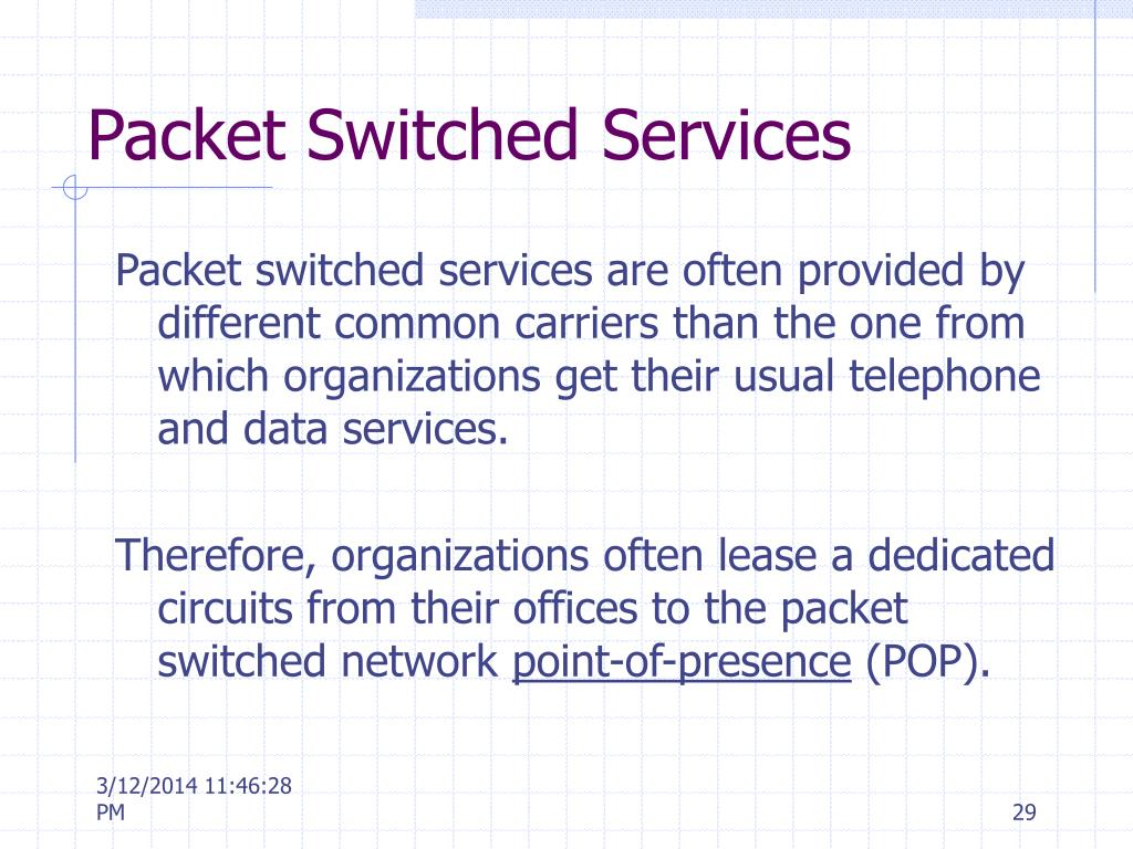 Packet Switched Services