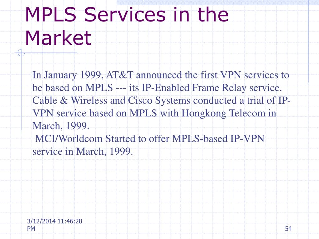 MPLS Services in the Market