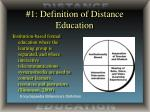 1 definition of distance education