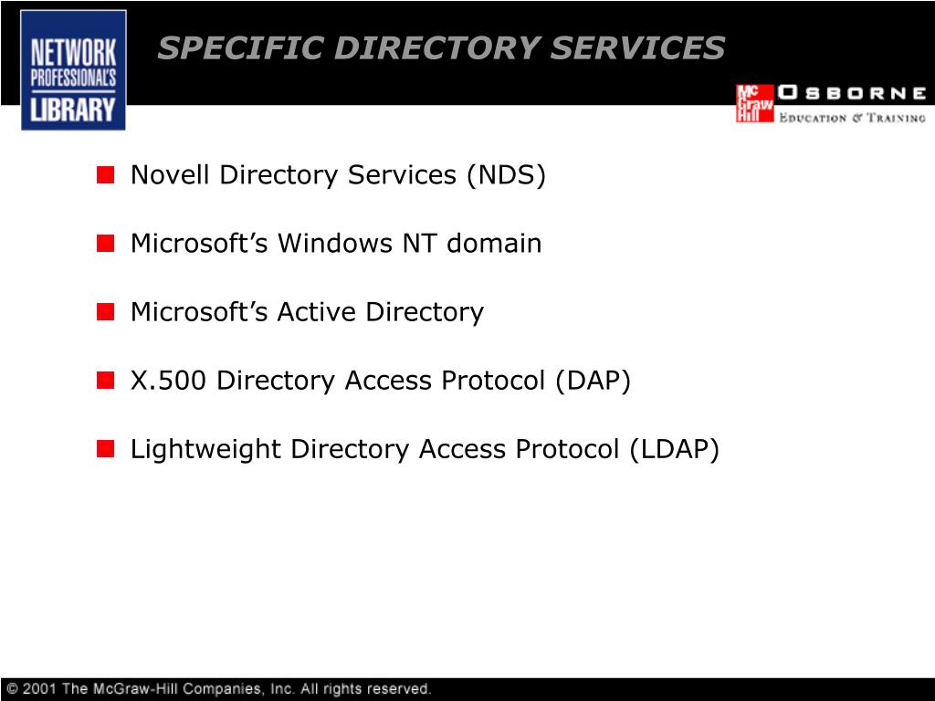 exploring directory services