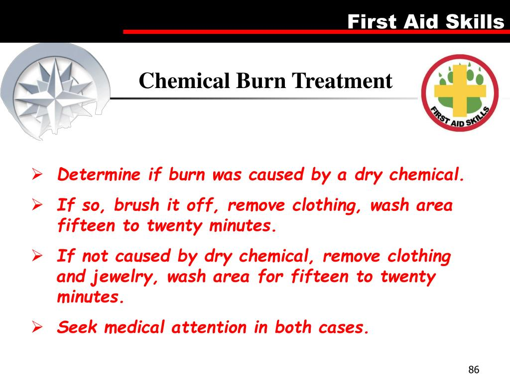 Chemical Burn Treatment