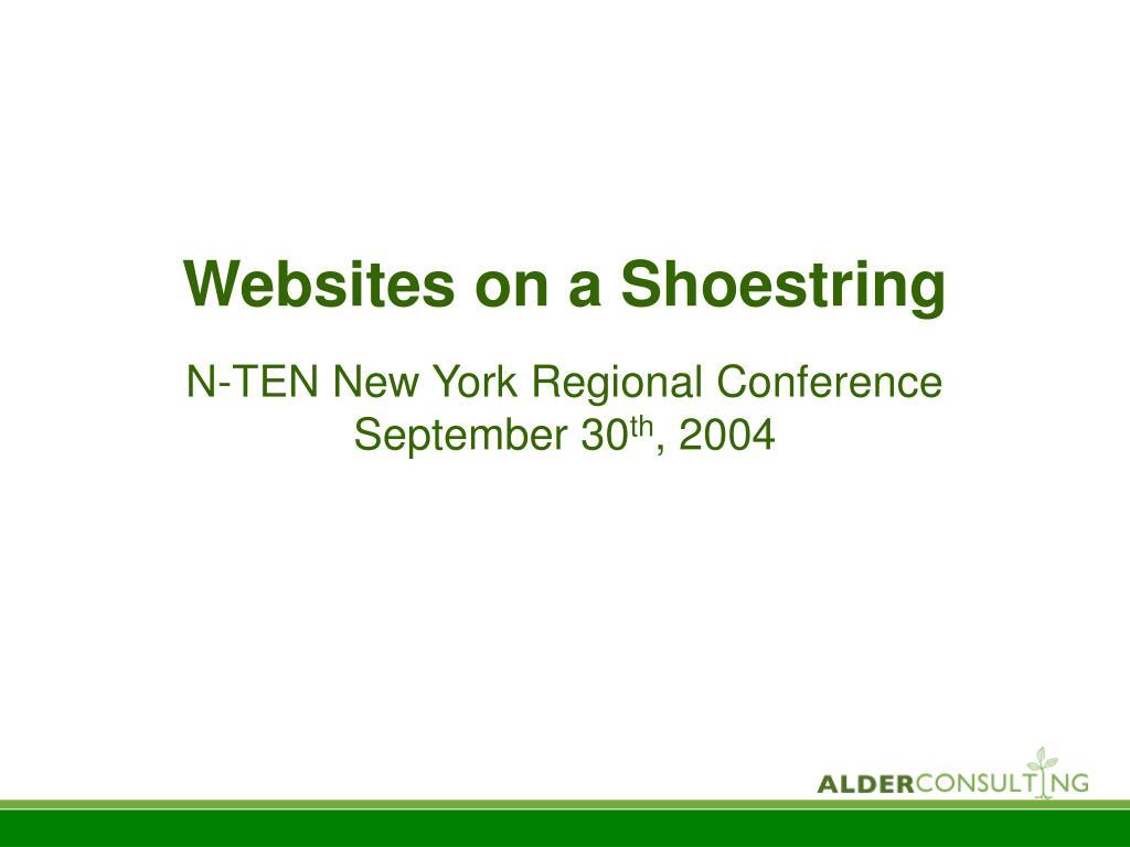 websites on a shoestring l.