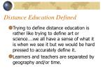 distance education defined