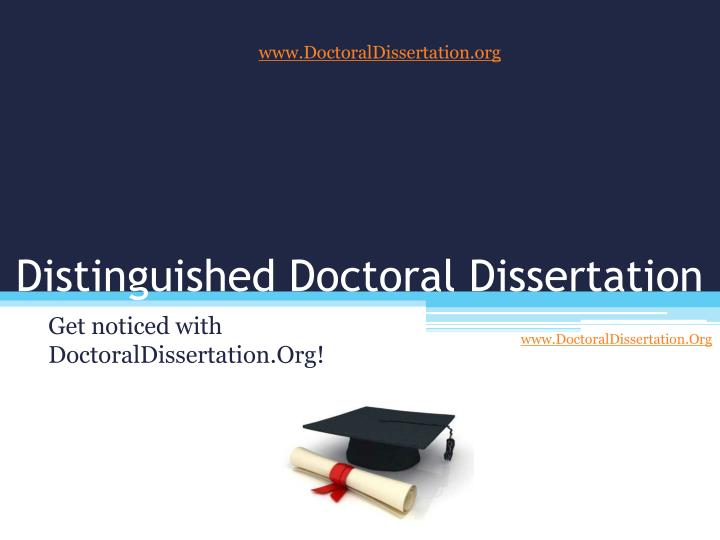 Writing a doctoral dissertation without