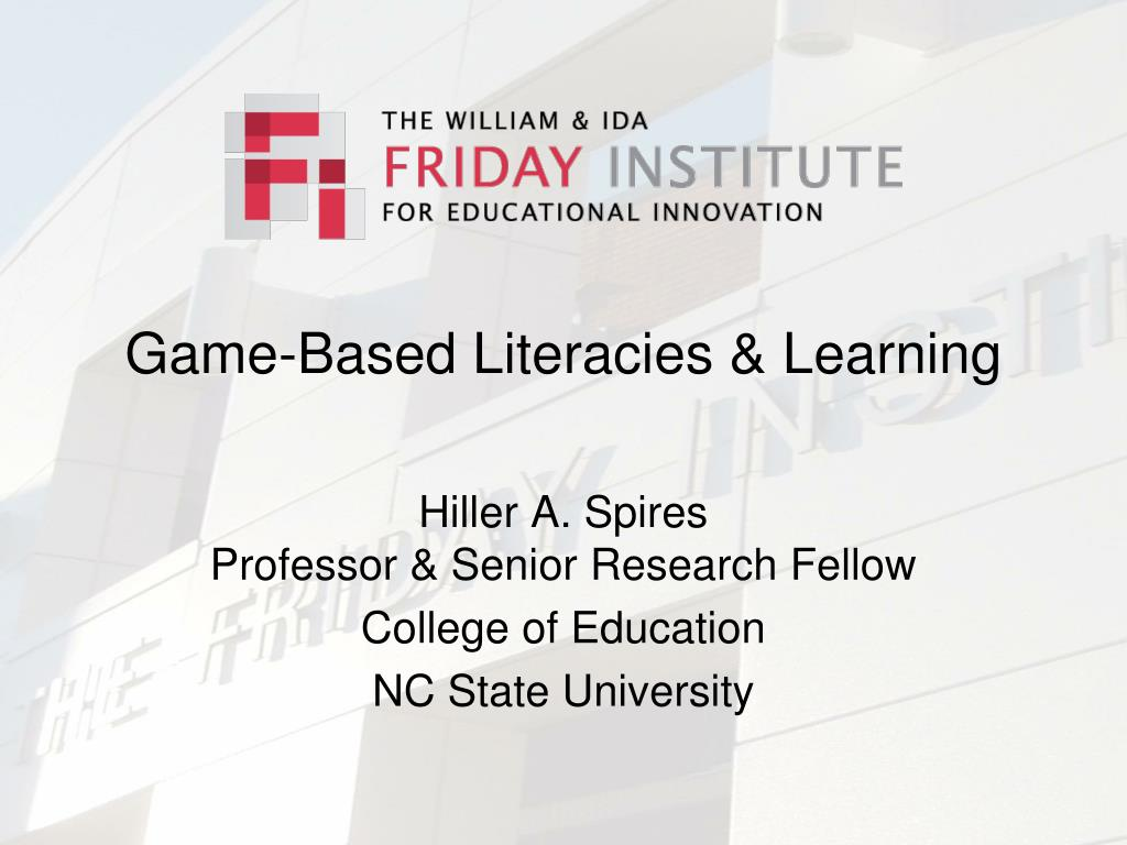 Game-Based Literacies & Learning