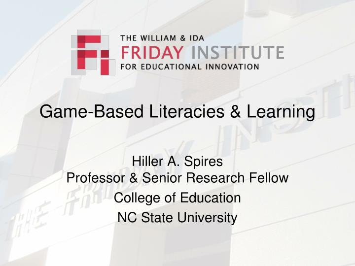 Game based literacies learning