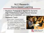 nlc research game based learning