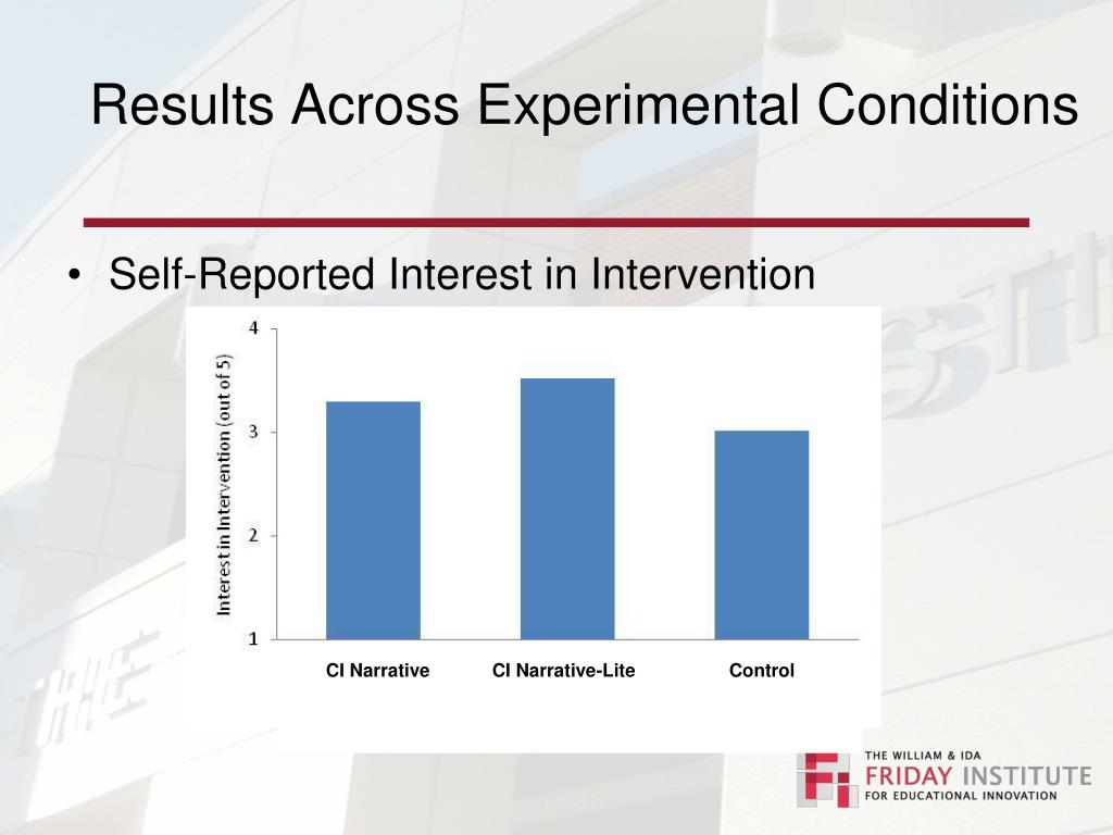 Results Across Experimental Conditions