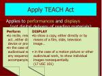 apply teach act