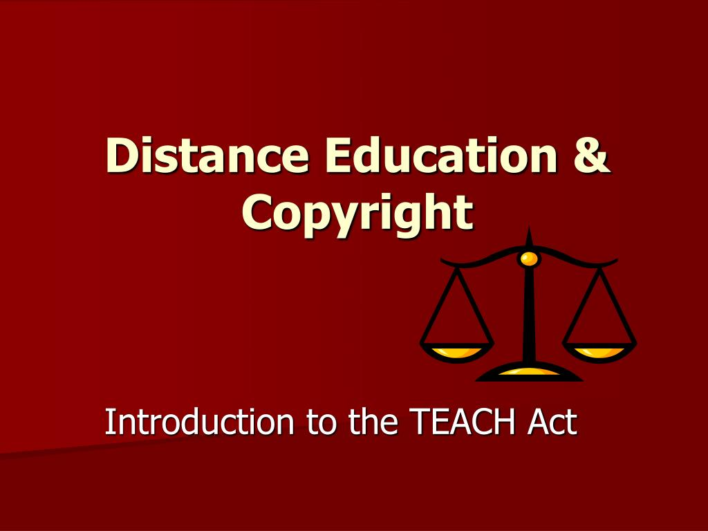 distance education copyright l.