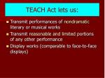 teach act lets us