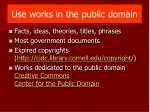 use works in the public domain