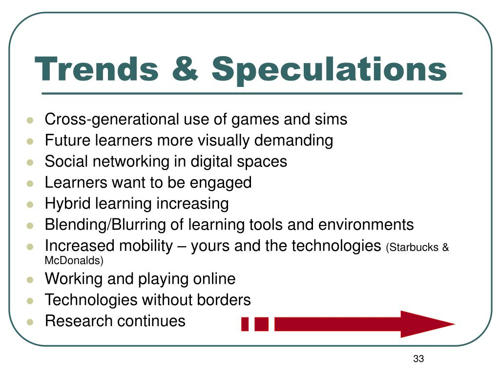 Trends & Speculations