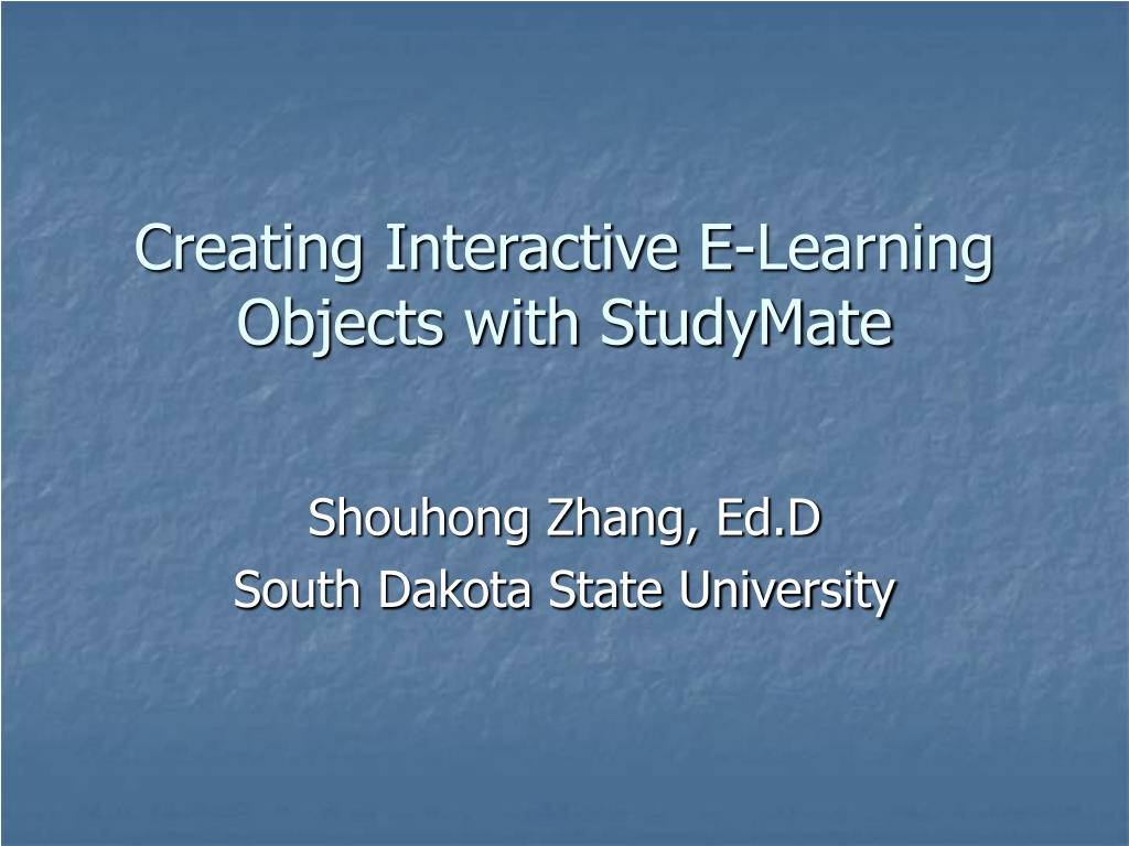 creating interactive e learning objects with studymate l.