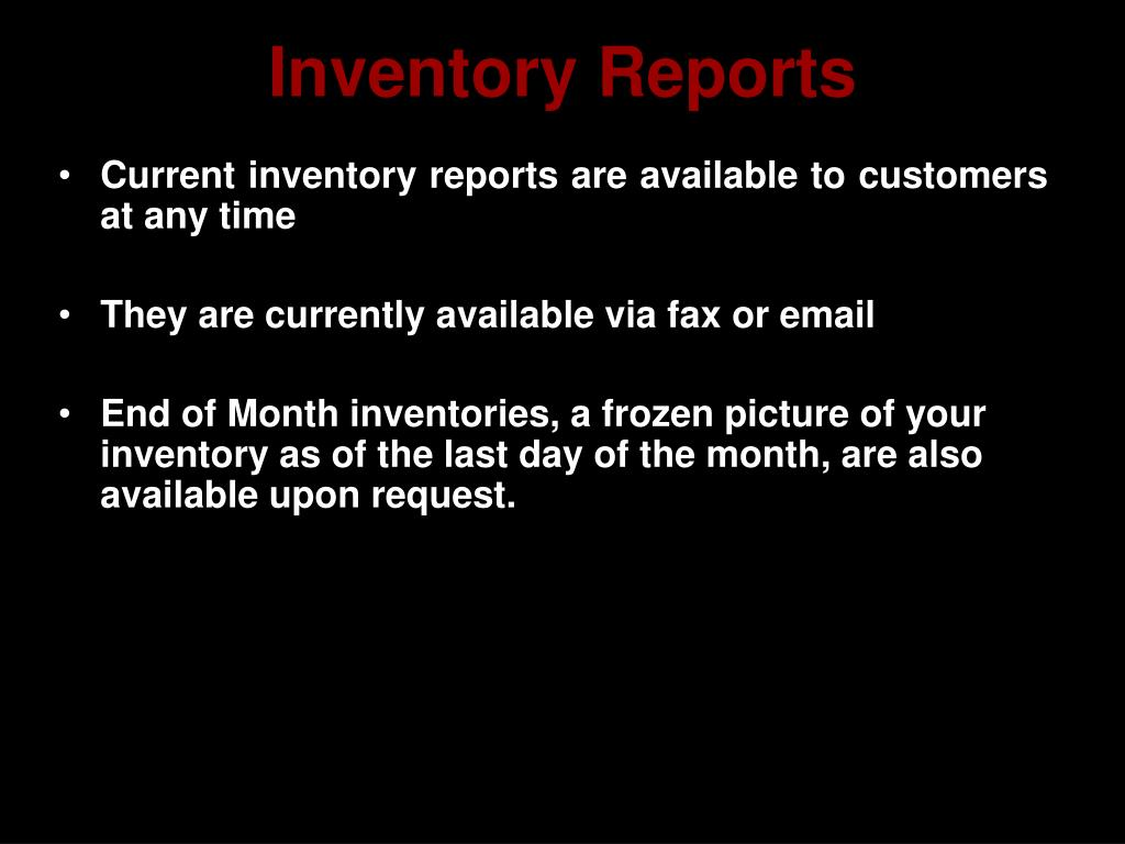 Inventory Reports