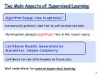 two main aspects of supervised learning