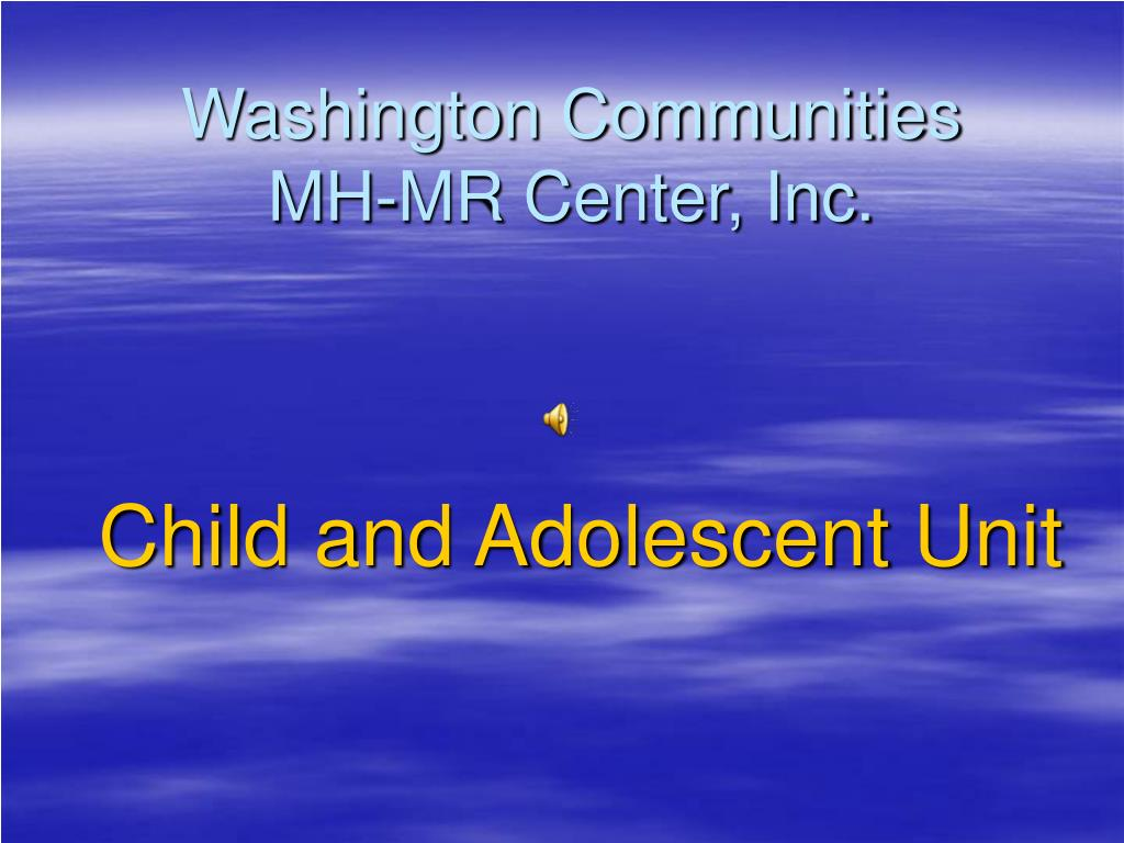 washington communities mh mr center inc l.