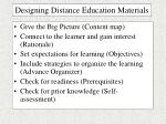 designing distance education materials