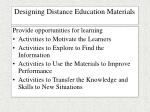 designing distance education materials43