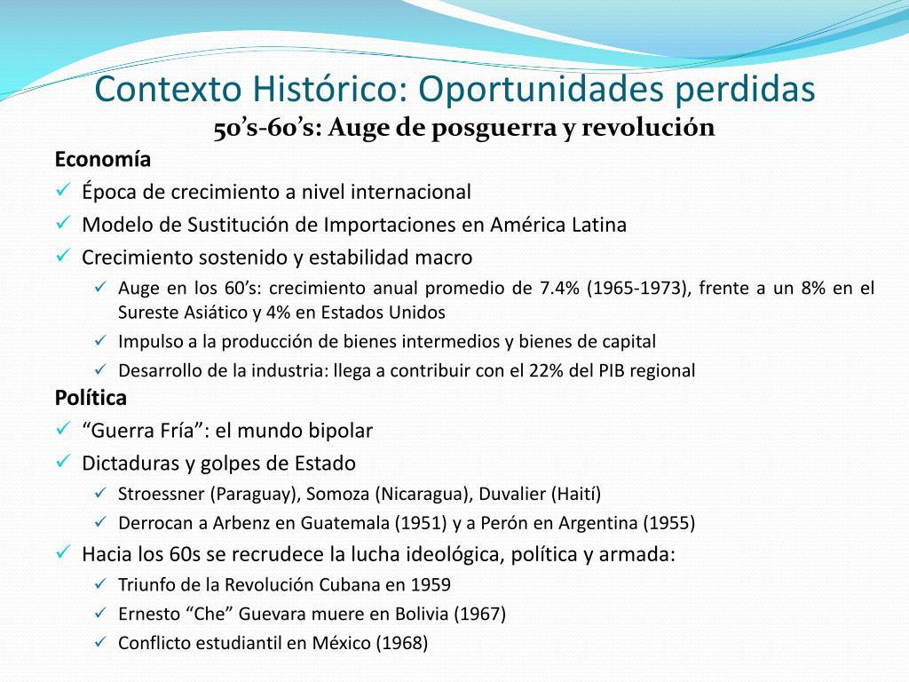 Contexto Histórico: Oportunidades perdidas