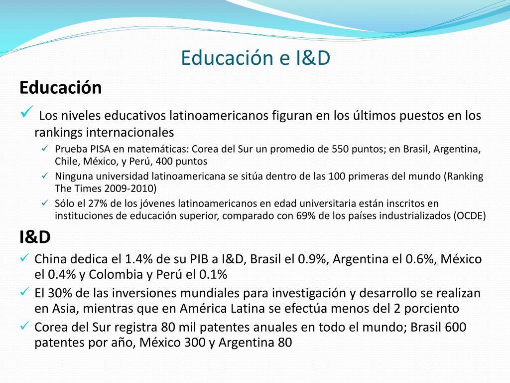 Educación e I&D